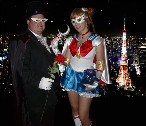 Valentine's Day Couples Contest Entry: Samara & Eric as Sailor Moon & Tuxedo Mask!