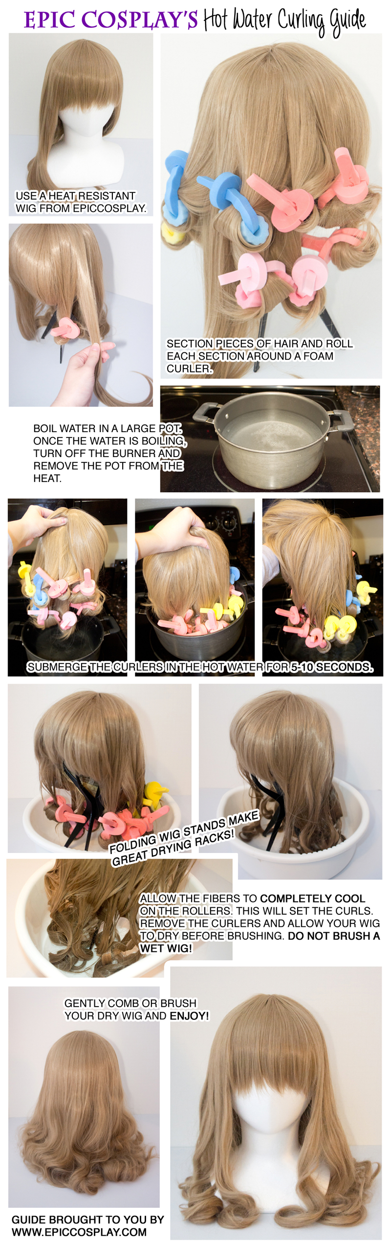 Curl Your Wig With Hot Water Epiccosplay Wigs